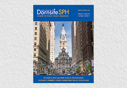 Cover of Dornsife SPH Magazine Spring-Summer 2019 issue featuring Philadelphia's city hall
