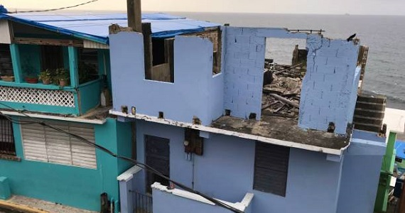 Puerto Rico houses destroyed from storm