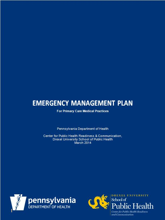 Emergency Management Plan for Primary Care Medical Practices