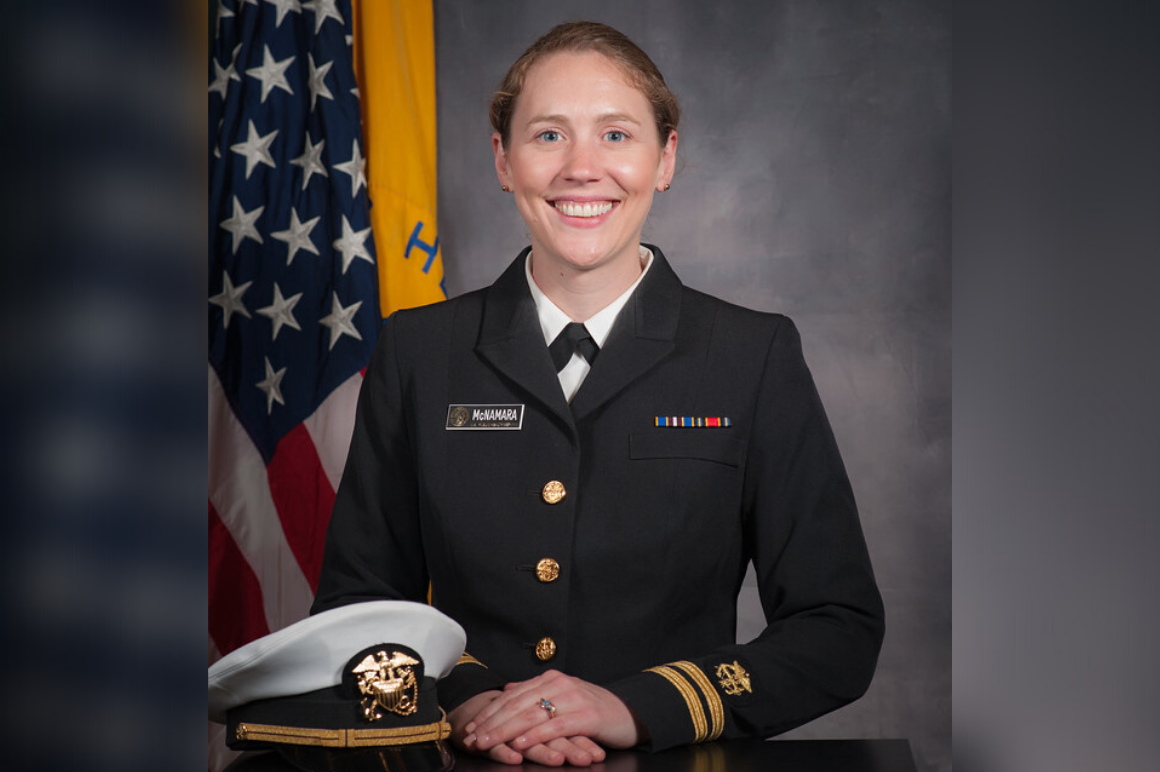 Lieutenant Kathryn McNamara in uniform