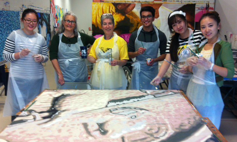 ELCers at the Mural Arts workshop