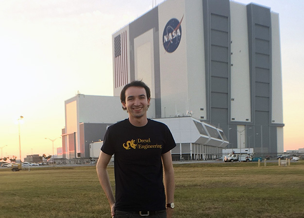 Matt Wiese '18, a mechanical engineering B.S./M.S. junior, spent a six-month co-op at NASA's Goddard Space Flight Center research lab helping to design ground-support equipment. Cooperative education enables students to balance theory with practical experience.