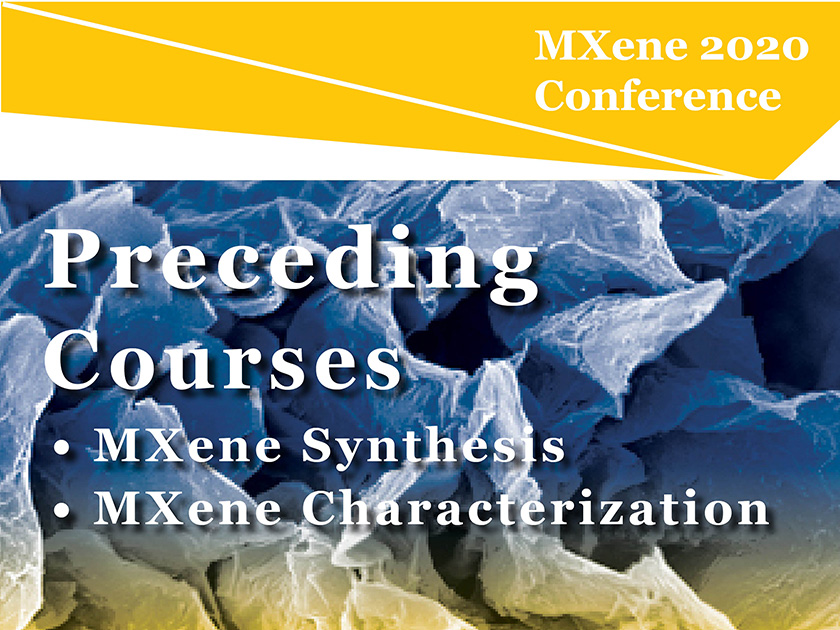 Experienced researchers, industry professionals, and students are all welcome to partake in in-depth courses preceding the MXene Conference.