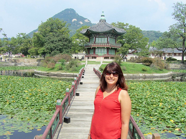 PhD student Amanda Pentecost in South Korea