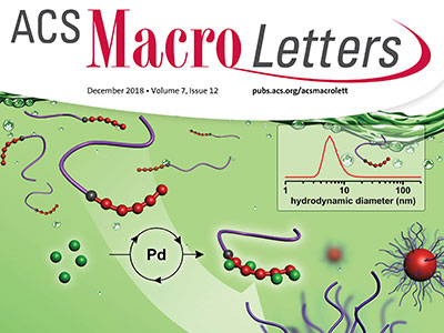 Cover of ACS Macro Letters with Magenau polymer image