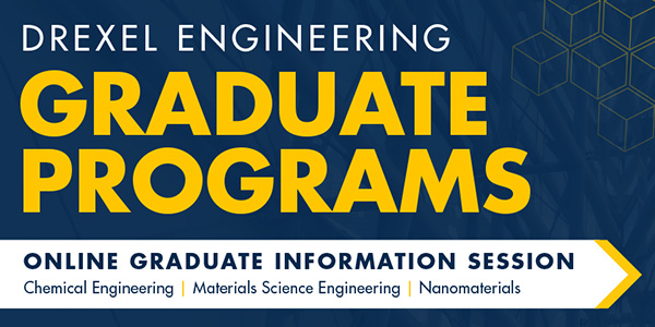 Join us on December 17  for an online information session to learn more about our programs in Chemical Engineering, Materials Science and Engineering,  and Nanomaterials.