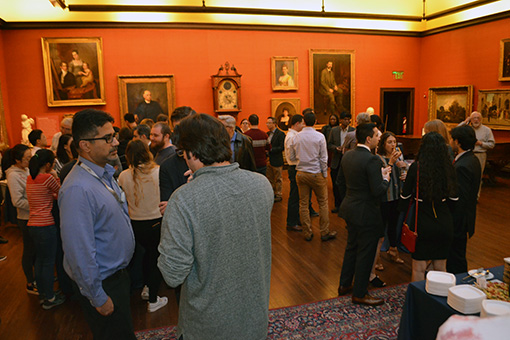 Faculty, staff and students gathered in the A.J. Drexel Picture Gallery.
