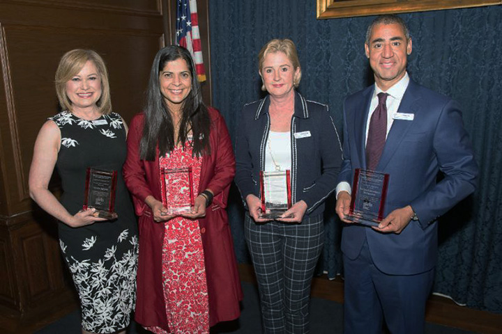 Simi Hoque (second from left), an associate professor of architectural engineering, was honored at the annual Girls Inc. 2018 Strong, Smart, and Bold Breakfast. Hoque was chosen in recognition of her STEM University summer program for middle school girls held at Drexel.