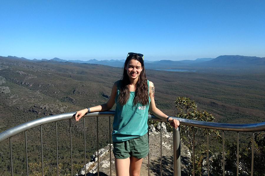 Student at the Grampians National Park.