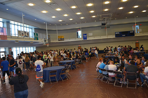 The welcome party took place in the Rec Center.