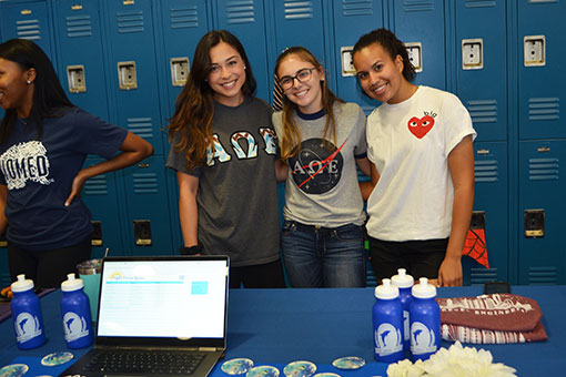Alpha Omega Epsilon welcomed the new students.