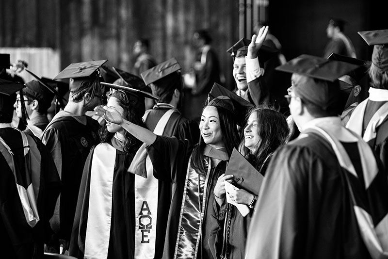 In Black and White: The 2019 College of Engineering Commencement, Part III image