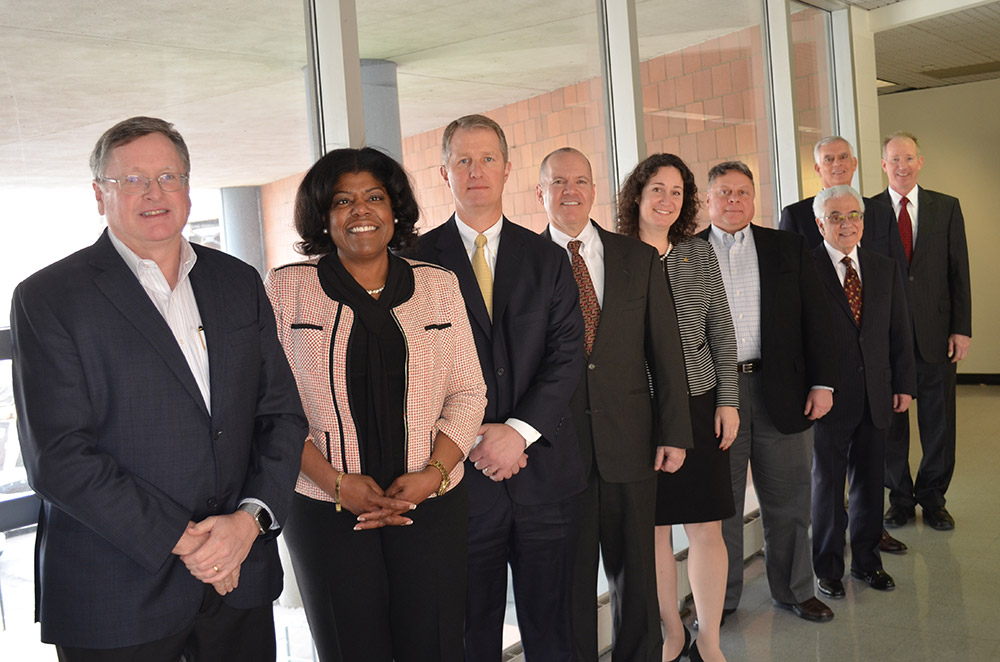 Members of Executive Advisory Council with Dean Walker