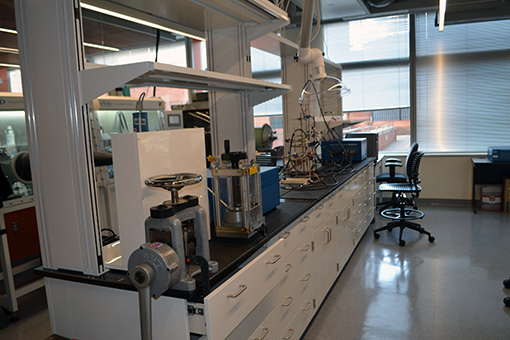 Some of the facilities in the new lab.
