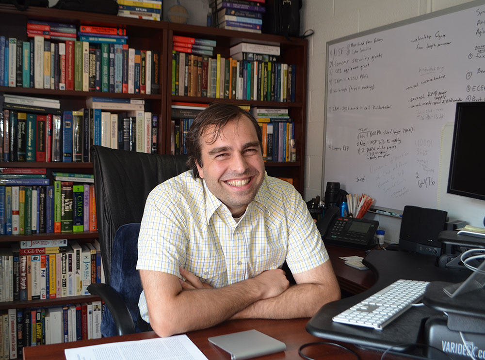 Dr. Ioannis Savidis in his office