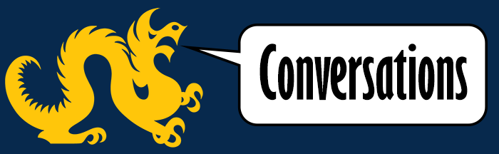 Logo for 'Conversations' series