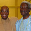 Department Head Dr. Abioseh Porter with Ayi Kwei Armah
