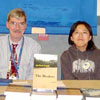 Bookstore representatives on hand to sell books
