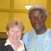 Ayi Kwei Armah with Department Secretary Eileen Brennen