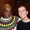 Dr. Abioseh Porter, Department Head of English and Philosophy, with Nicole Kline