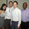 Lauren Boyle, Tim McGovern, Jordan Schilling, and English and Philosophy Department Head Dr. Abioseh Porter