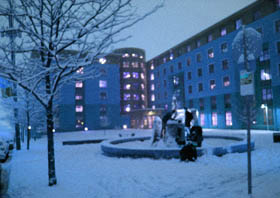 North Hall in snow