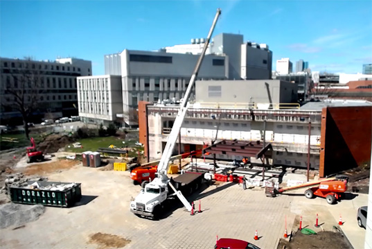 Korman Center Construction Time Lapse Video