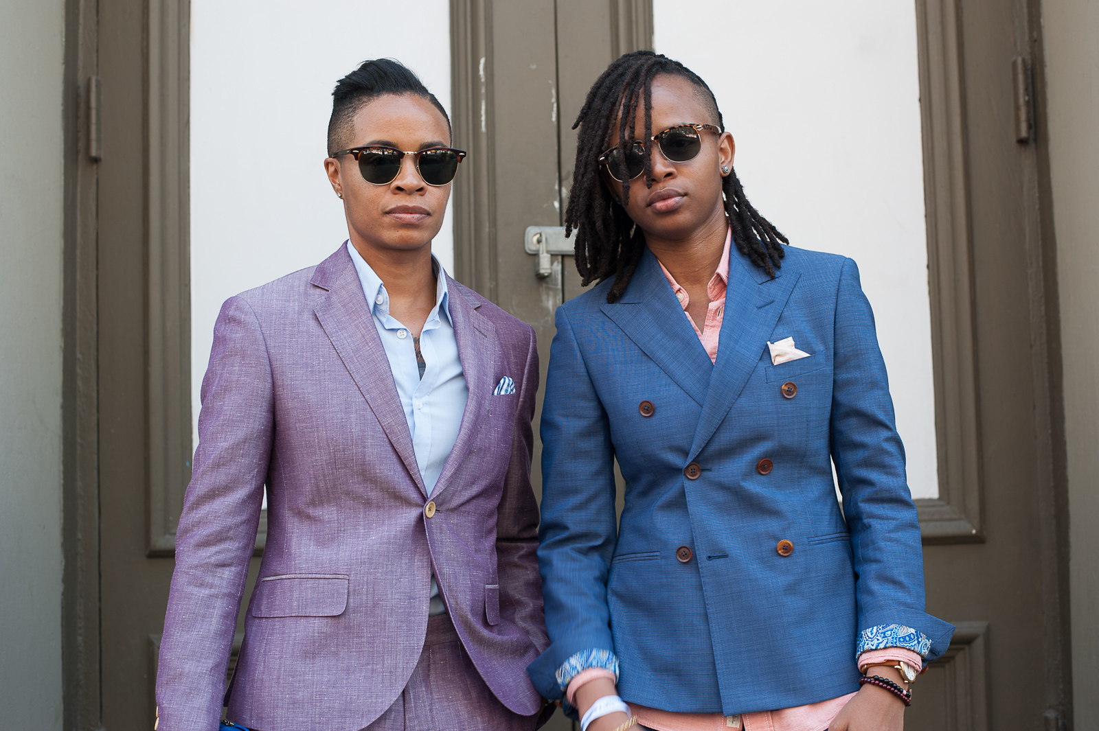 two women in blazers