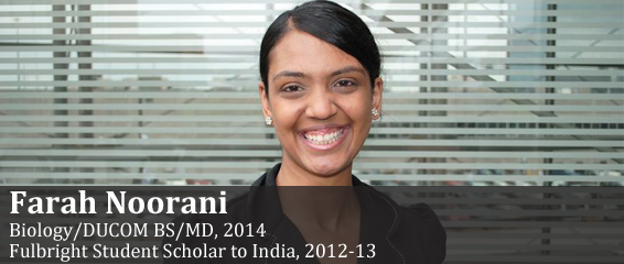 2012-2013 Fulbright Scholar to India, Farah Noorani.