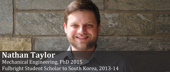 Fulbright Scholar Nathan Taylor.