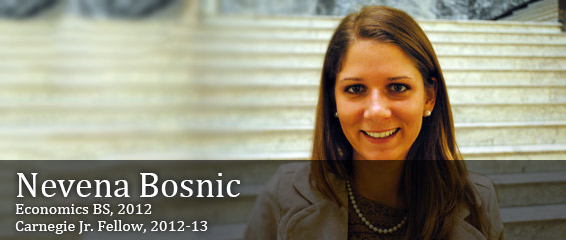 Nevena Bosnic, Carnegie Jr. Fellow, 2012-13