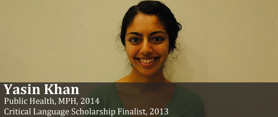 2013 Critical Language Scholarship Finalist Yasin Khan.