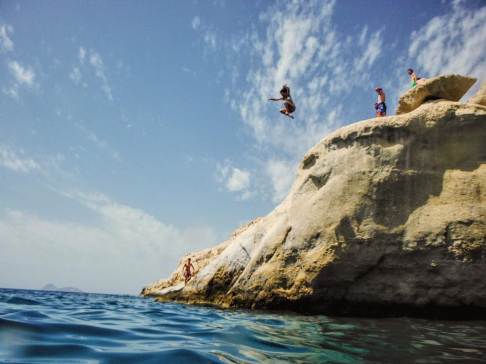 Cliff Jumping In Crete