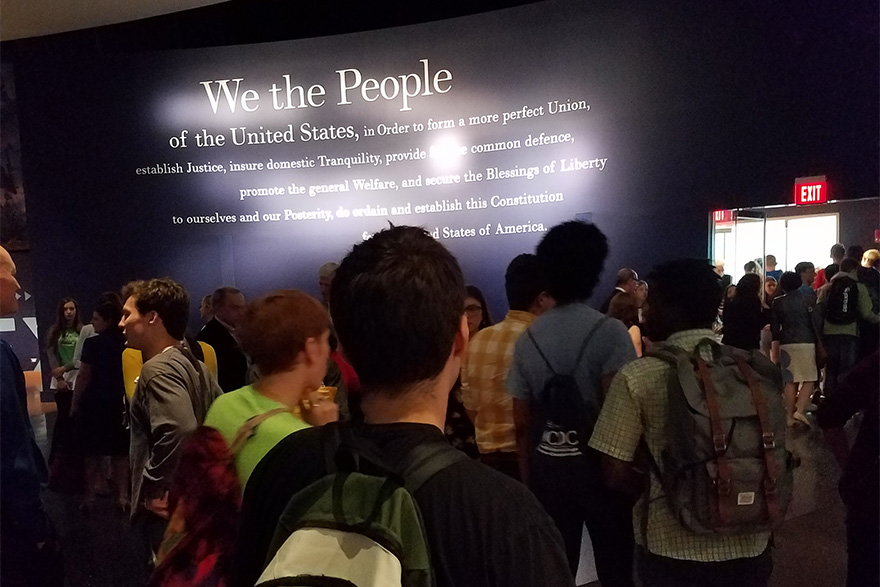 Ursinus Students at the Constitution Center