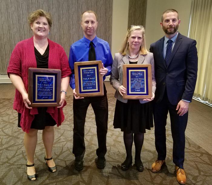 Goodwin faculty with awards