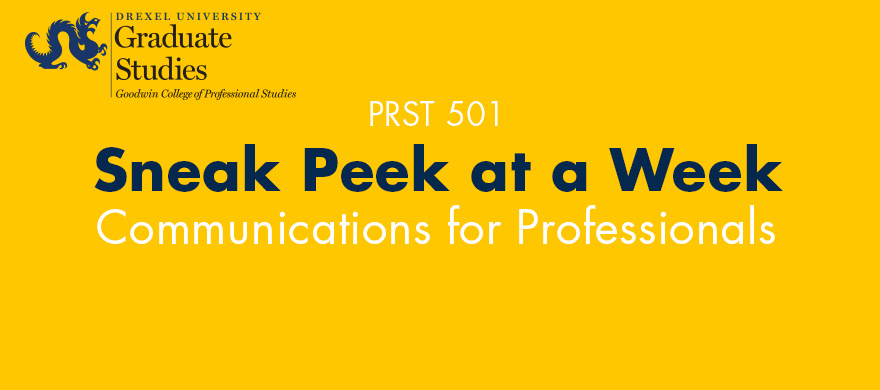Sneak Peek at a Week in MS in Professional Studies