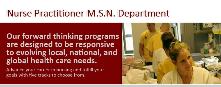 Nurse Practitioner MSN Department