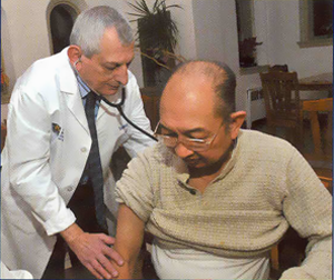 Dr. Zarro with patient