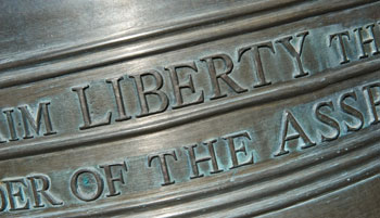 Closeup of the Liberty Bell