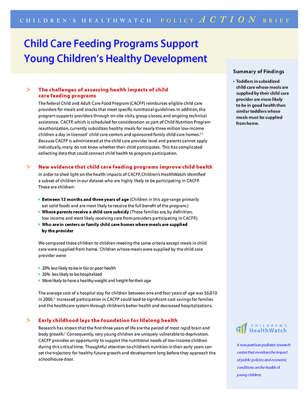 Child Care Feeding Programs Support Young Children S Healthy Development Home