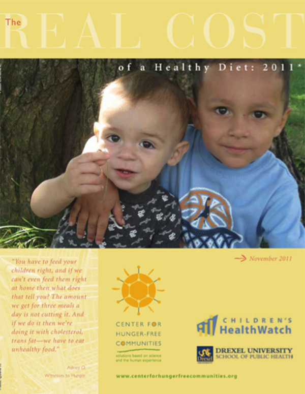 Report Cover - Real Cost of a Healthy Diet 2011