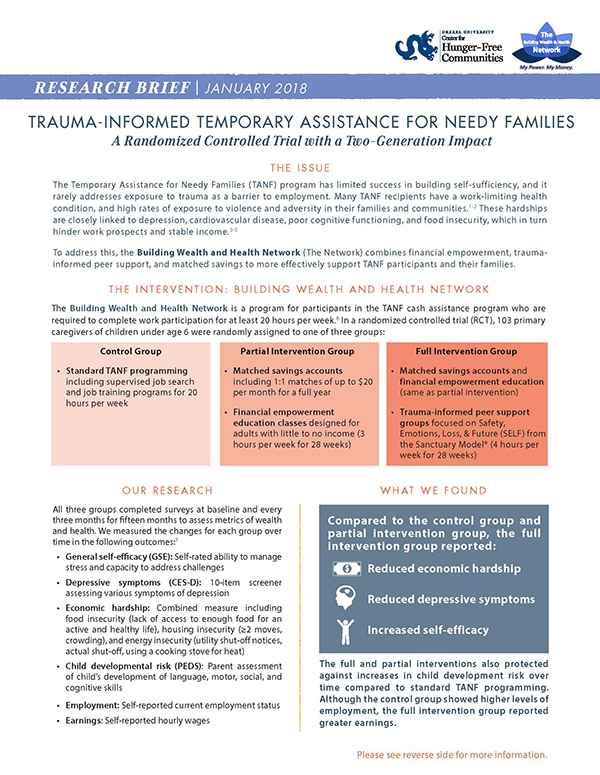 Report Cover - Trauma-informed Temporary Assistance for Needy Families