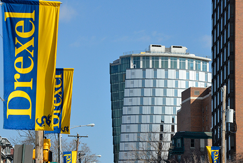 Drexel University flags