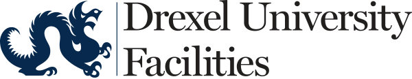 Drexel University Facilities embroidery logo