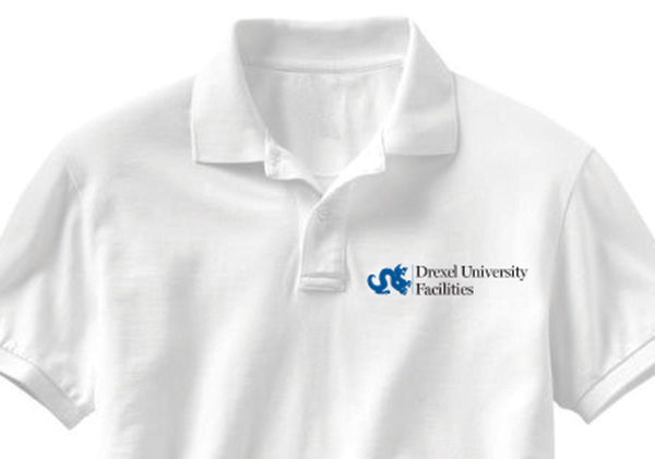 Drexel University Facilities embroidery example