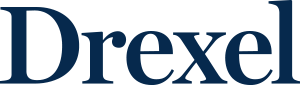 Drexel Wordmark Informal blue HEX