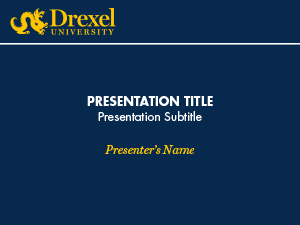 Powerpoint presentation ideas for college powerpoint presentation powerpoint identity drexel university toneelgroepblik Choice Image
