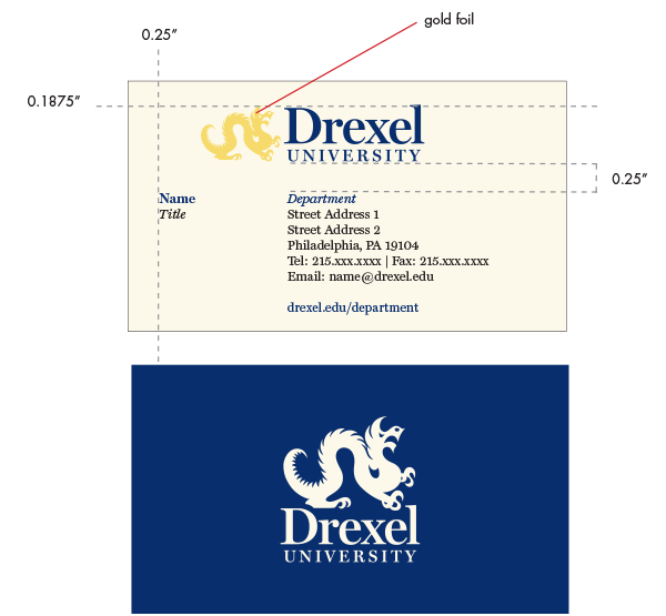Drexel Business Cards
