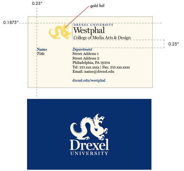 Drexel Westphal business card