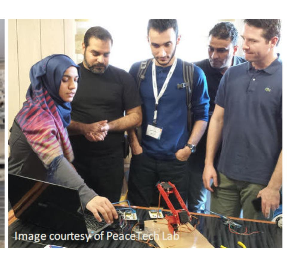 Students at PeacTech Lab